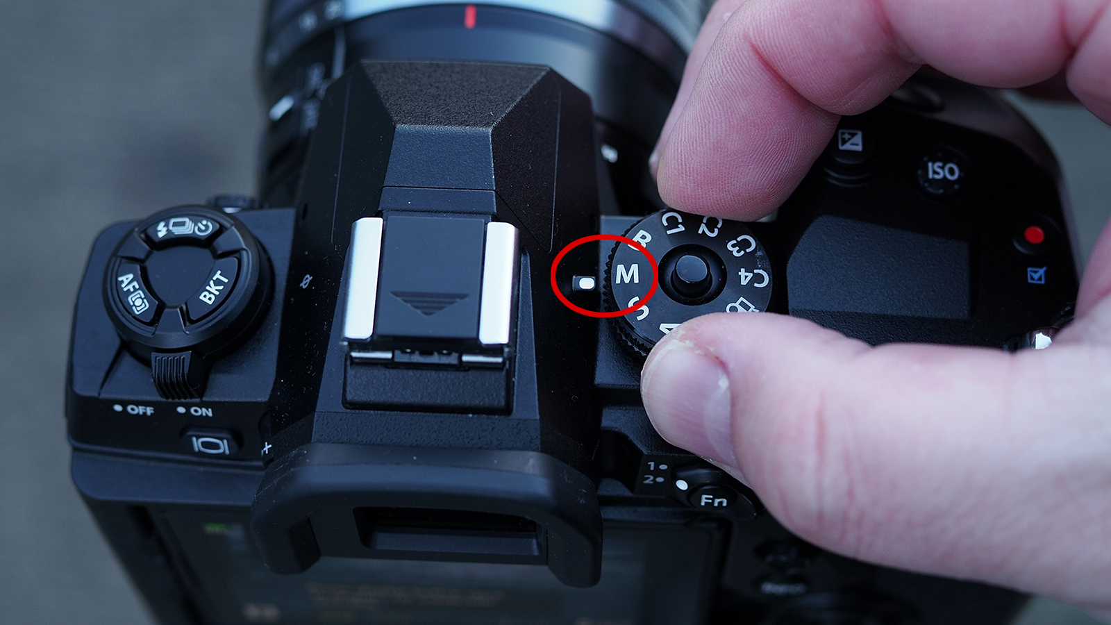 The setting 'M', activate ND filter, save as 'My profile' - my preference 'C2'
