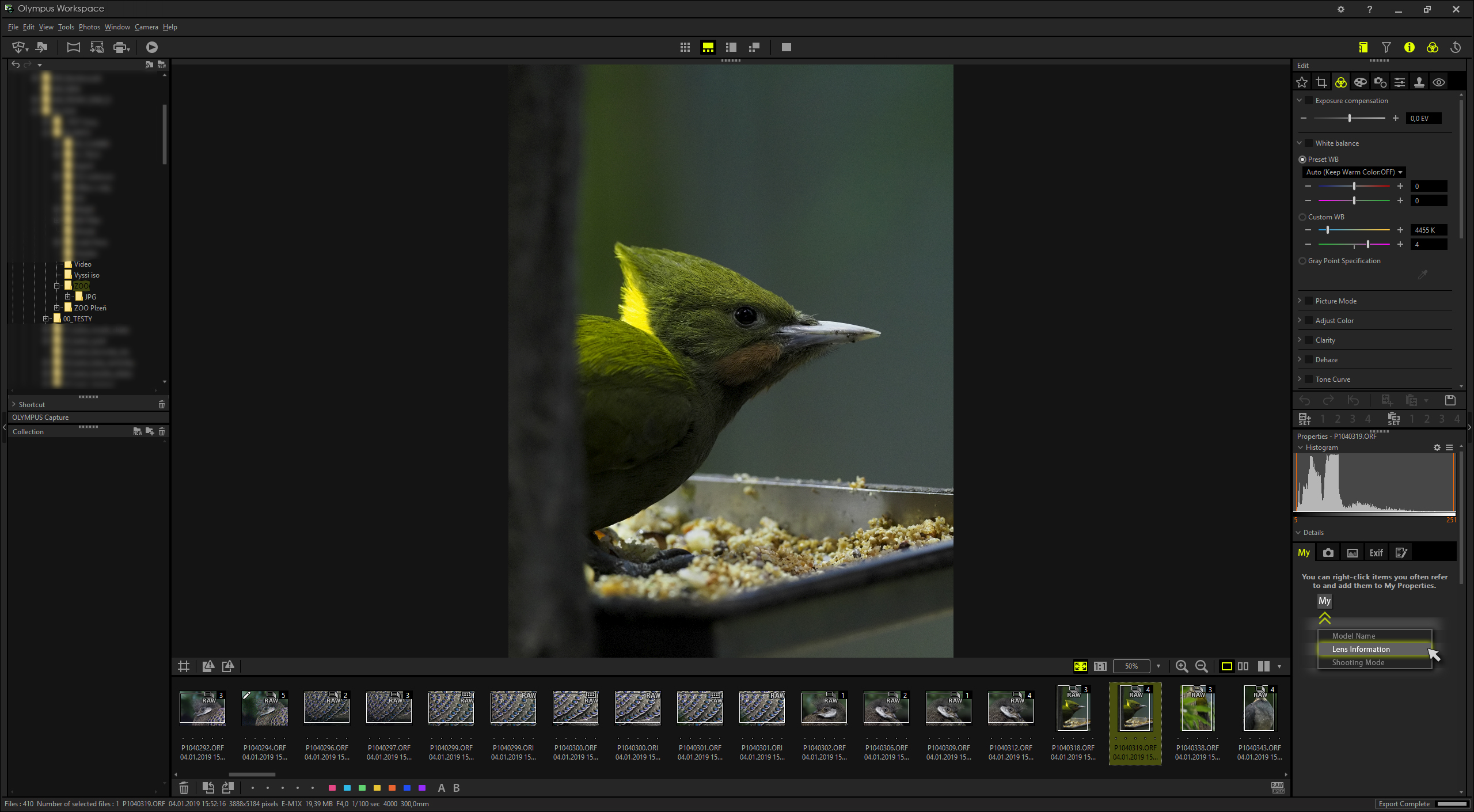 New Olympus Workspace software for RAW editing