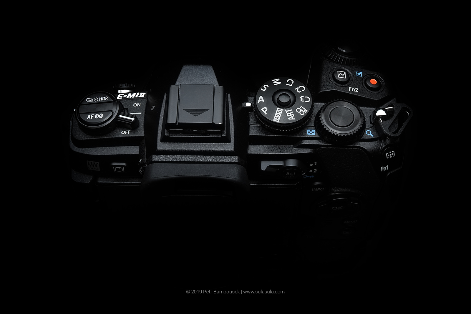 Olympus E-M1 Mark II - top panel buttons overview